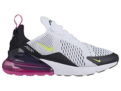Nike Herren Air Max 270 Leichtathletikschuhe, Mehrfarbig (White/Volt/Black/Laser Fuchsia 109), 46 EU -