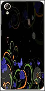 Snoogg Abstract Swirl Design Elements Designer Protective Back Case Cover For HTC Desire 826