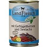 Landfleisch Dog Pur Geflügelherzen&Seelachs 400g