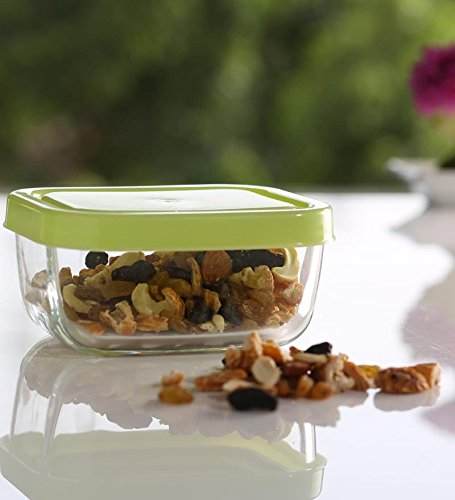 Pasabahce Snow Box Food Container, 420ml, Set of 2