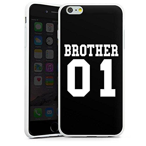 Apple iPhone X Silikon Hülle Case Schutzhülle Brother Bruder Bro Silikon Case weiß