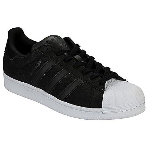 adidas Damen Superstar W Turnschuhe, Schwarz / Weiß (Negbas / Negbas / Ftwbla), 42 2/3 EU