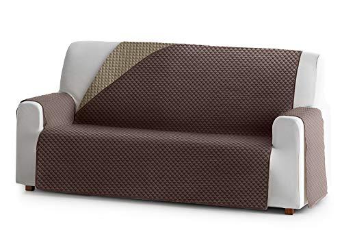 Reversibler Sofaschoner ELENA, 3 Sitzer, gefütterter Schutz für Sofas Farbe Braun 07