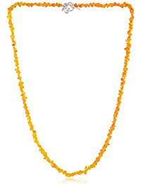 Naanjil Yellow Stone Strand Necklace for Women (NAM00011)