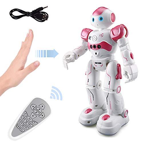 ROOYA BABY Robot Giocattolo Telecomandato a Controllo Remoto per Bambini, Robot Interattivo Programmabile CR Che Danza Canta Cammina Ruota, Robot...