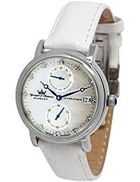 Yonger & Bresson YBD 8521-10 VS - Reloj de pulsera mujer, piel, color blanco