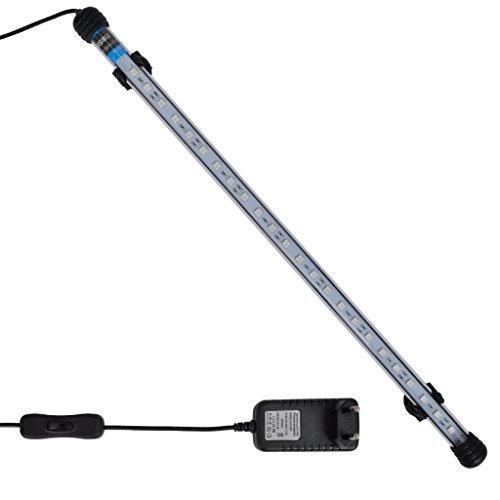48 Led-aquarium-lichter (Festnight LED Aquariumlampe Aquariumleuchte Aquarium Unterwasserleuchte 48cm Blau LED-Licht für Fischteich und Aquarien)