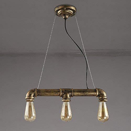 Kronleuchter Deckenleuchte Pipe Suspension 3 Lichter Antique Bronze Vintage Industrial Light Pendelleuchte Hängende Beleuchtung -