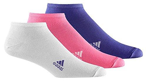 adidas, Calzini Liner Plain Training, 3 paia, Multicolore (Semi Solar Pink/White/Semi Night Flash S15), 35-38