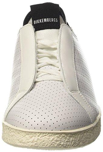 BIKKEMBERGS Herren Best 872 Niedrige Sneaker Bianco