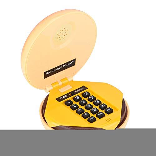 Wendry schnurgebundene Telefone, Neuheit Emulational Hamburger Telefonleitung Festnetz-Telefon Dekoration, wunderbar für den täglichen Gebrauch oder nur für Sammlung (Tägliche Anrufer)