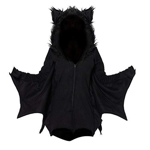BESTOYARD Halloween Hexe Kostüm Hexe Mantel Hoodies Zeigt Cosplay Kostüm Kit Outfit für Mädchen Frauen Größe 2XL