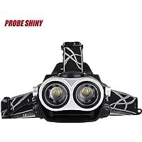 Koly 8000LM 2X XM-L T6 linterna del faro de luz de la cabeza +