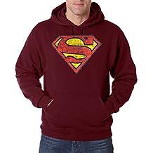 Youth designz Hombre Sudadera Capucha Modelo Vintage Superman, en muchos Varios. Colores