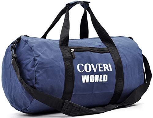 Borsone originale coveri uomo donna spalla nylon capiente viaggio moda grande bagaglio valigia cabina easy jet viaggio palestra escursioni italia made italy (blu)