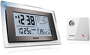 Philips Radiowecker mit Wettervorhersage Radio - Radios (AAA, Uhr, LCD, Analog, FM, -20 - 70 °C)