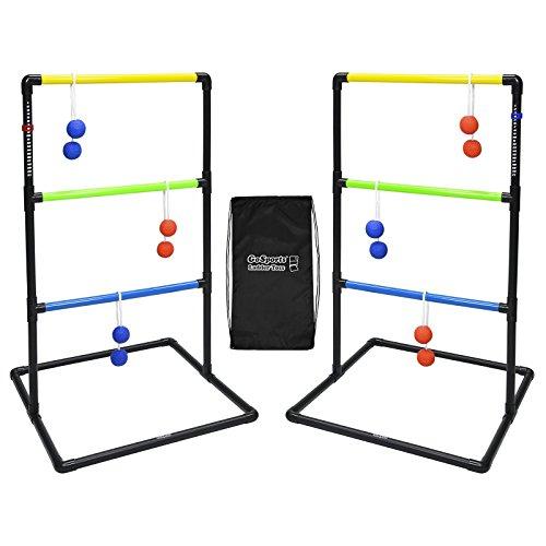 GoSports Indoor/Outdoor Leiter Toss Spiel-Set mit 6Gummi BOLOS, Tragetasche und Score Trackers