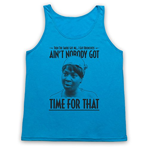 Sweet Brown Ain't Nobody Got Time For That Tank-Top Weste Neon Blau