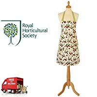 RHS Ulster Weavers Strawberry Apron Cotton With PVC Coating And Waist Tie