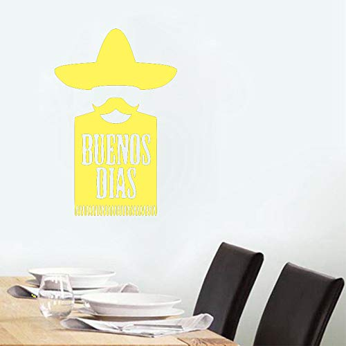 Buenos Dias Mexican Kitchen Food Wandaufkleber Vinyl Aufkleber Room Home Art Decor Aufkleber Wanddekorationen Home Decoration color-3 56x86cm