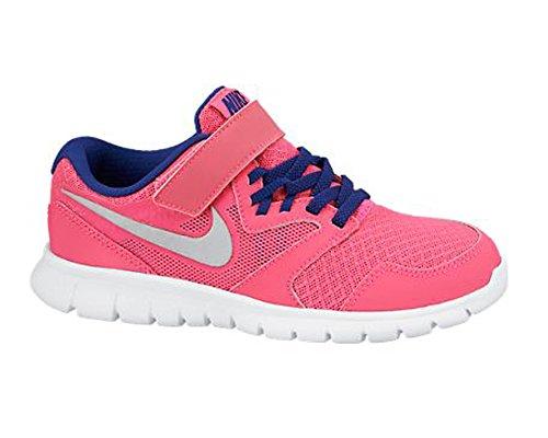 Nike Mädchen Flex Experience 3 (Psv) Turnschuhe Rosa / Plateado / Azul (Hypr Pnk / Mtllc Slvr-Dp Ryl Bl)