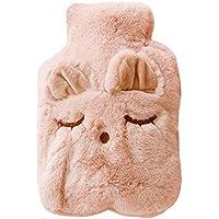 Lumanuby 1x Rosa Schlafen Katze Wärmflasche für Eltern Kinder PP Wärmekissen mit Plüsch-Bezug für Wärmespender... preisvergleich bei billige-tabletten.eu