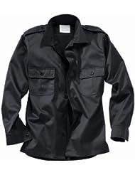 Surplus Hombres US Camisa Manga Larga Negro tamaño M