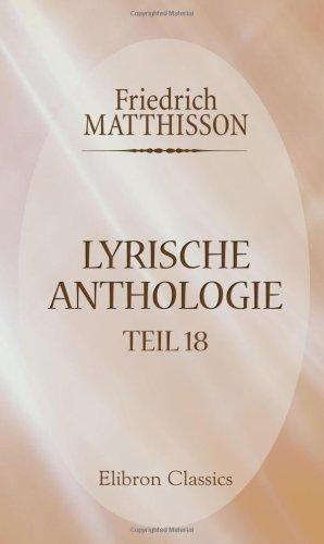 Lyrische Anthologie: Teil 18