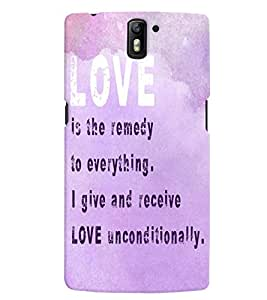 Generic Mobile Backcover for One Plus One (Multicolor)