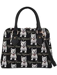 Westie Convertible Bag by Signare | Shoulder Stylish Handbag | 36x23x12.5 cm | (CONV-WES)