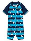 Schiesser Jungen Shark Fever Baby-Surfanzug Badeanzug, Blau (Admiral 801), 62 (Herstellergröße: 412)