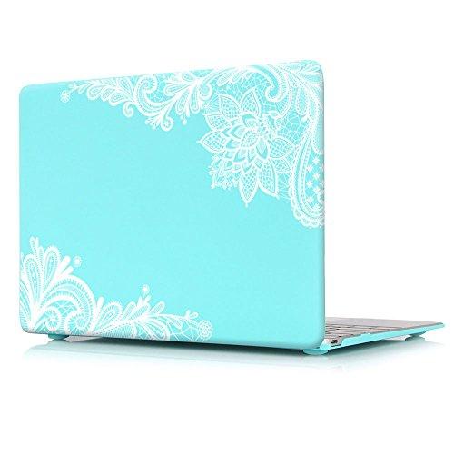 Batianda Patrón de encaje de moda Plástico Hard Shell Funda para MacBook Pro...