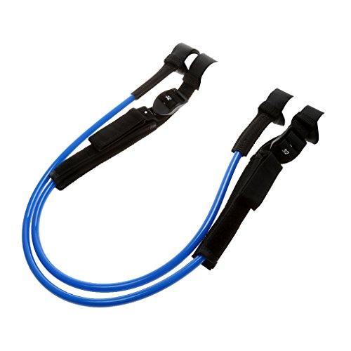 2 Stück Einstellbar Windsurf Waist Harness Line Hüfttrapez - Blau, 28-34 Zoll