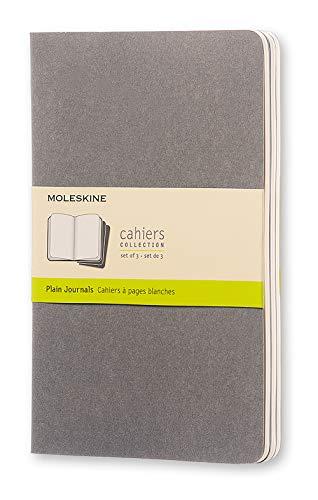 Moleskine Cahier - Set de 3 cuadernos lisos grandes, color gris claro cálido