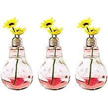 Laat Retro botellas de cristal decorativo bombilla jarrón pequeño decoración ...