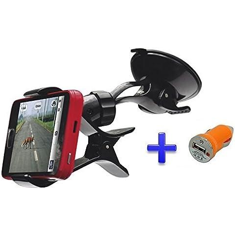 Theoutlettablet® Soporte Universal 360° con Ventosa parabrisas - Accesorio para coches para smartphone Xiaomi Mi4s
