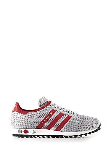 adidas Unisex-Erwachsene La Trainer Em Sneaker grau / rot / weiß