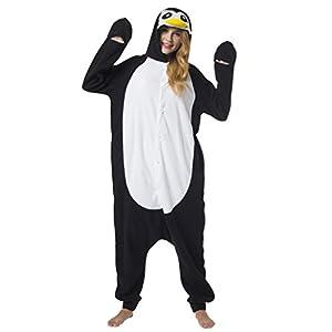 Katara (10+ Modelos) Kigurumi Pijamas Disfraz Animal Halloween Adultos  Pingüino Talla 145-155cm
