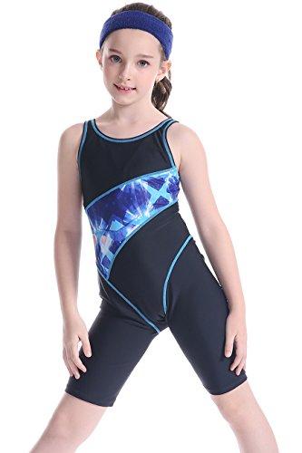 EwigYou Mädchen Einteiliger Wettkampf Badeanzüge Schwimmanzug mit Beinen Neoprenanzug für Wassersport