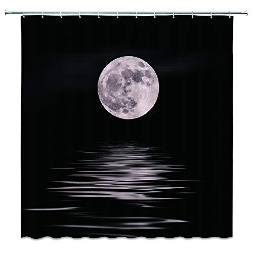 AMNYSF Beliebtes Element Design Duschvorhang 177,8x 177,8cm Polyester-Schimmelresistent-Vorhänge, Wasserdicht, mit 12Haken Modern Multi 332 (April Showers-stoff)