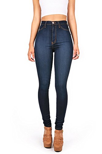 Gemijacka Damen High Waist Skinny Dünn Jeans - Hohe Taille Skinny Jeans