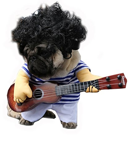 arkind Kostüm Zoohandlung Puppy Welpen Hunde katze 3D Kleidung Pirat Polizei Cowboy Kostüm Haustiere Cosplay Halloween (Rosa Piraten Pet Kostüme)