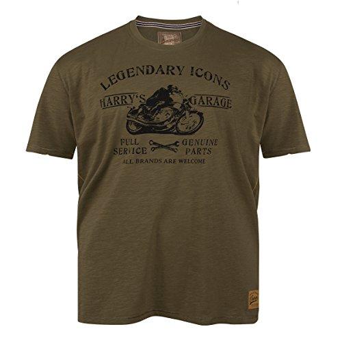 Redfield T-Shirt oliv modisch bedruckt Übergröße Oliv