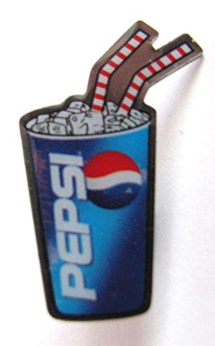 Pepsi Cola - Pin 31 x 20 - Becher mit Trinkhalmen (Pepsi Kostüm)