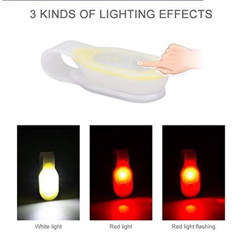 SEROLAB Mini Flexible biegsame Mantel Kragen Taschenlampe rotes Sicherheitslicht/weißes Arbeitslicht Hände frei Lampe mit austauschbaren 2xCR2032