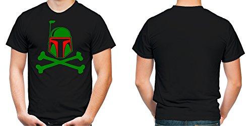 Boba Fett Männer und Herren T-Shirt | Spruch Vintage Empire Geschenk | M1 Schwarz