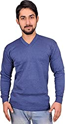 Alfa Oswal Mens Thermal Wear V Neck Top (Upper) (Navy, 85)
