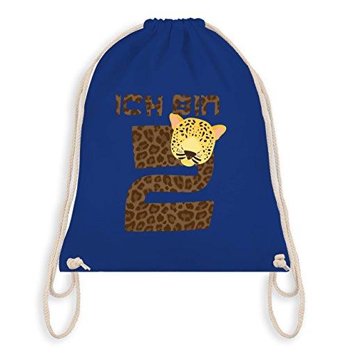 Geburtstag Kind - Ich bin 2 Leopard - Turnbeutel I Gym Bag Royalblau