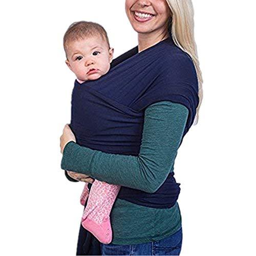 Tragetuch Baby elastisch für Neugeborene und Kleinkinder, Babytragetuch Kindertragetuch Baby Bauchtrage Sling Tragetuch für Baby Neugeborene Innerhalb 16 KG von VOARGE (dunkleblau)