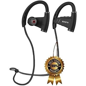 BDQFEI(TM) Bluetooth 4.1 headphones wireless headset with microphone sport heavy bass stereo music earphones IPX5 sweatproof noise canceling neckband earbuds